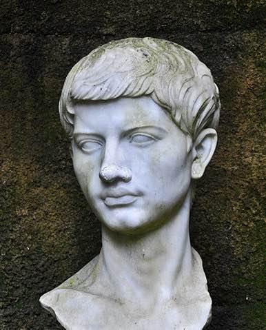 Busto del poeta romano Virgilio en el parque Virgiliano de Nápoles. Vía Wikimedia Commons