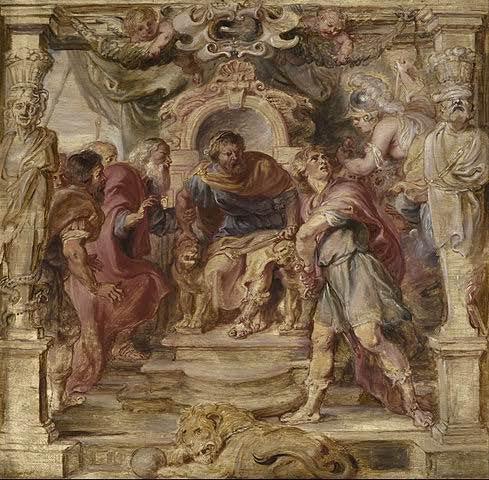 La ira de Aquiles pintura de Peter Paul Rubens