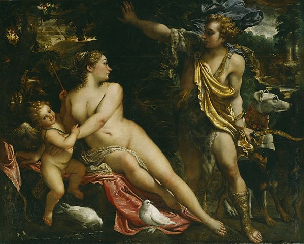 Pintura que retrata a Venus y Afrodita realizada por el pintor italiano Anibale Carraci