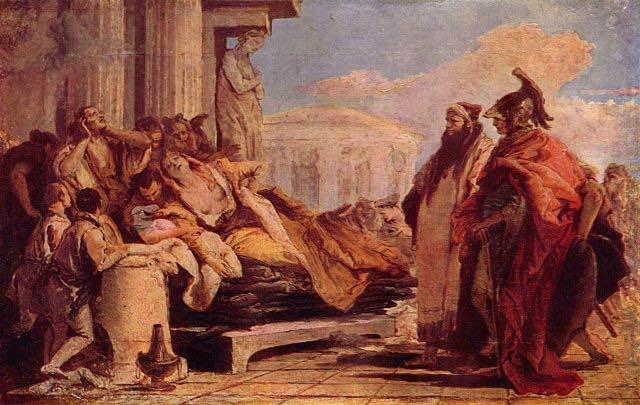 El suicidio de Dido la reina de Cártago, tras ser abandonada por Eeneas,  fue una de las explicaciones para la hostilidad entre romanos y cartagineses