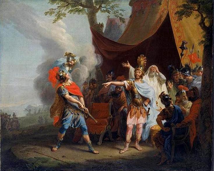 Aquiles tiene una disputa con Agamenón
