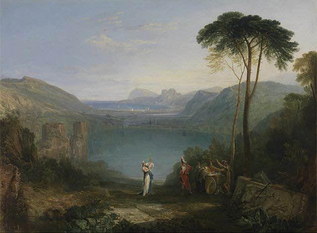 Pintura que representa a Eneas visitando a la Sibila Cumana.