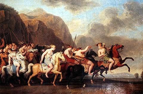 Los antiguos griegos creían que las amazonas cortaban su pecho derecho con el fin de poder manejar de manera más habil el arco y la flecha