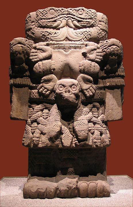 Estatua de Coatlicue en el Museo Nacional de Antropología e Historia de México