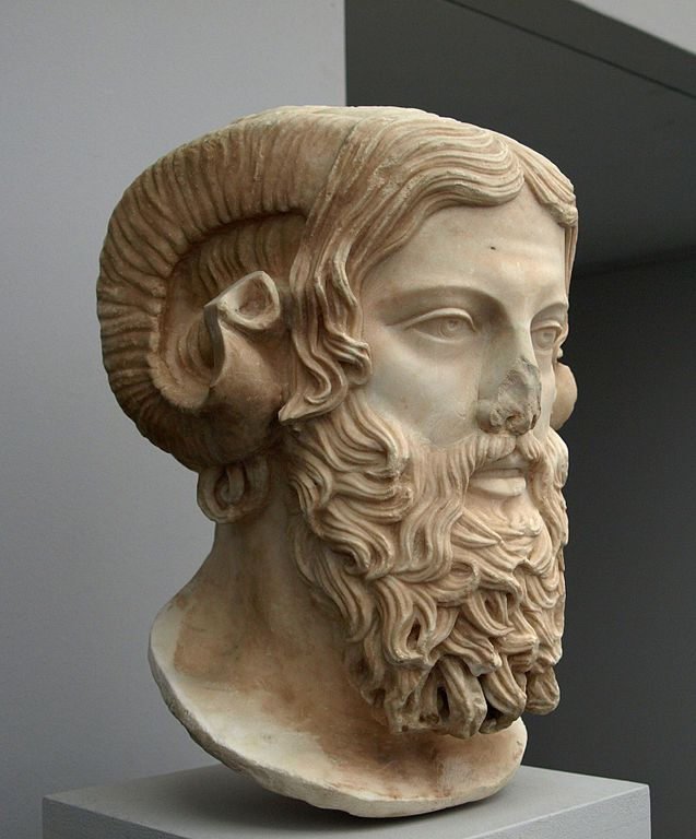 Zeus Amón, resultado del sincretismo entre las creencias griegas y egipcias.