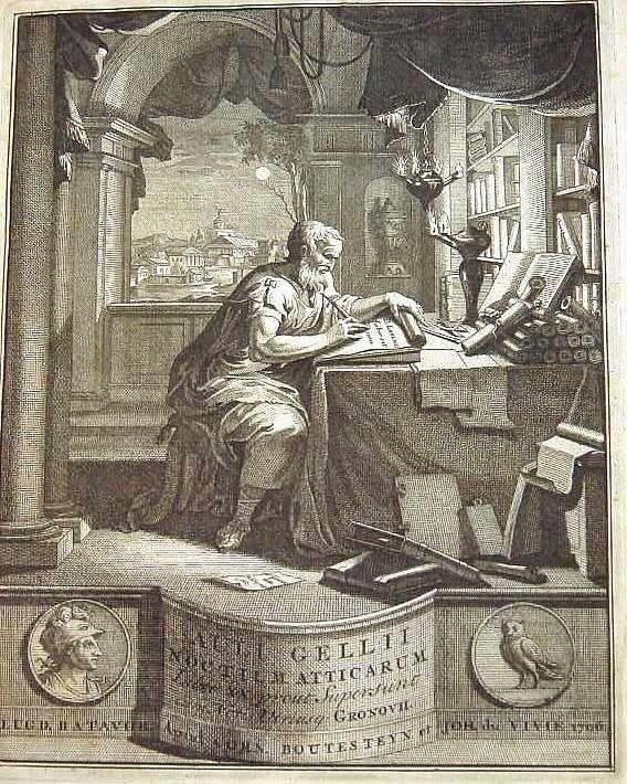 Fronstipicio de una edición en latin de Noches Áticas de Aulo Gelio