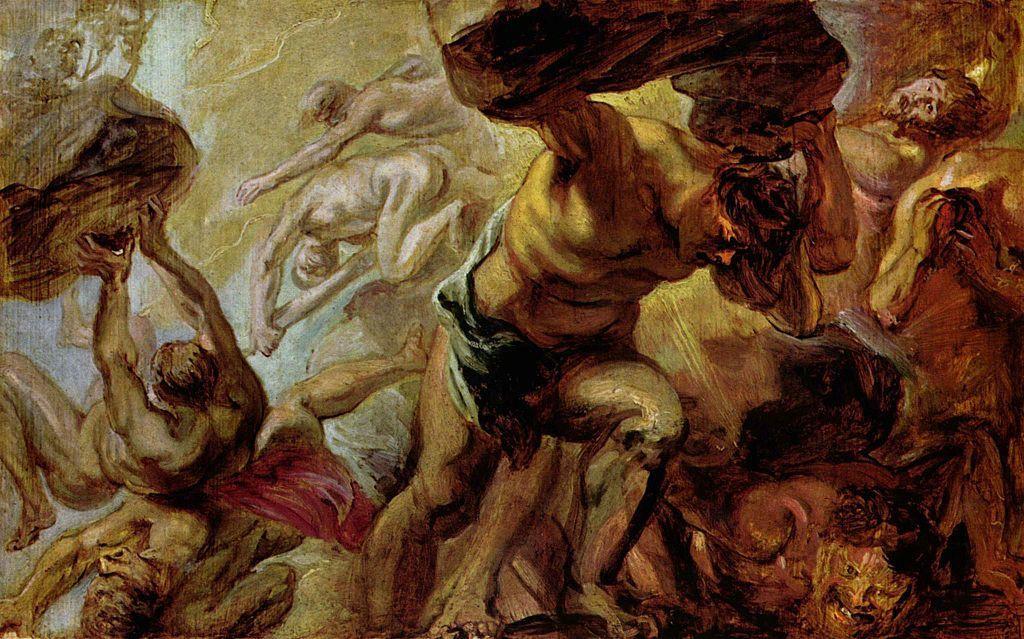 La caída de los titanes. Pintura de Peter Paul Rubens. Vía Wikimedia Commons.