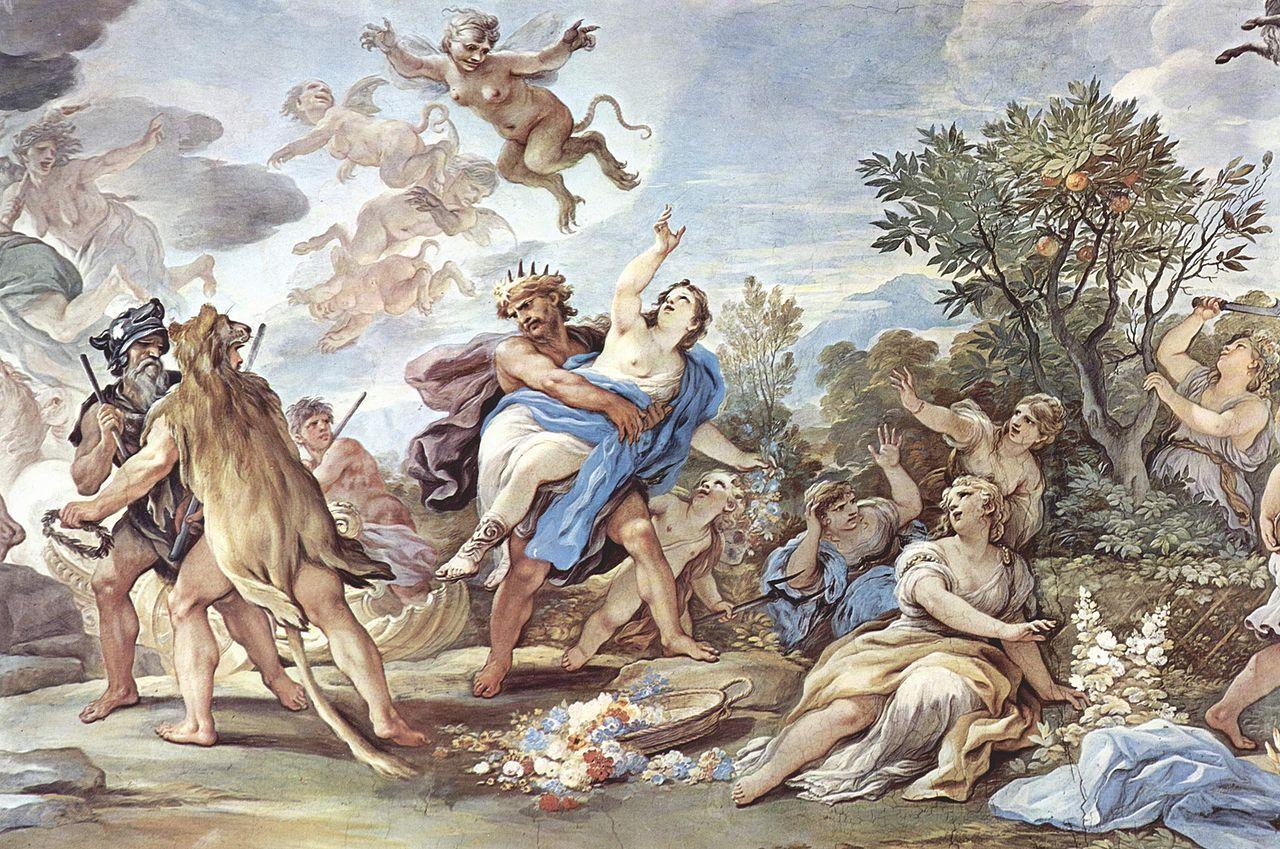 El rapto de proserpina de Luca Giordano. Vía Wikimedia Commons.