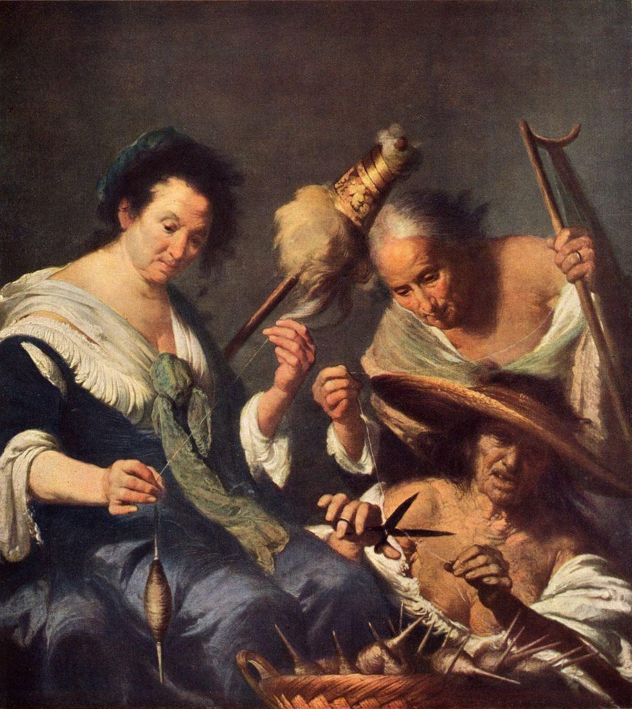 Los tres destinos. Pintura de Bernardo Strozzi.Vía Wikimedia Commons.