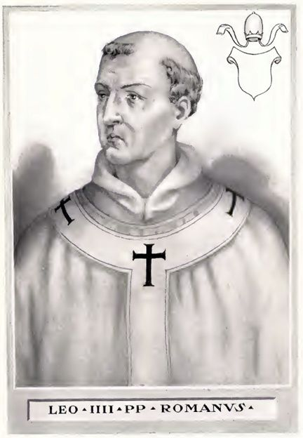 Ilustración del Papa Leon IV tomada del libro The Lives and Times of the Popes de Chevalier Artaud de Montor. Vía Wikimedia Commons.