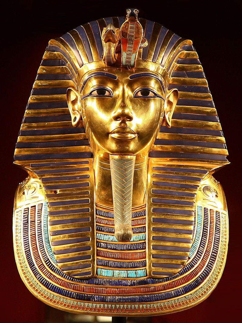 Máscara funeraria de Tutankamón en el múseo egipcio de El Cairo.