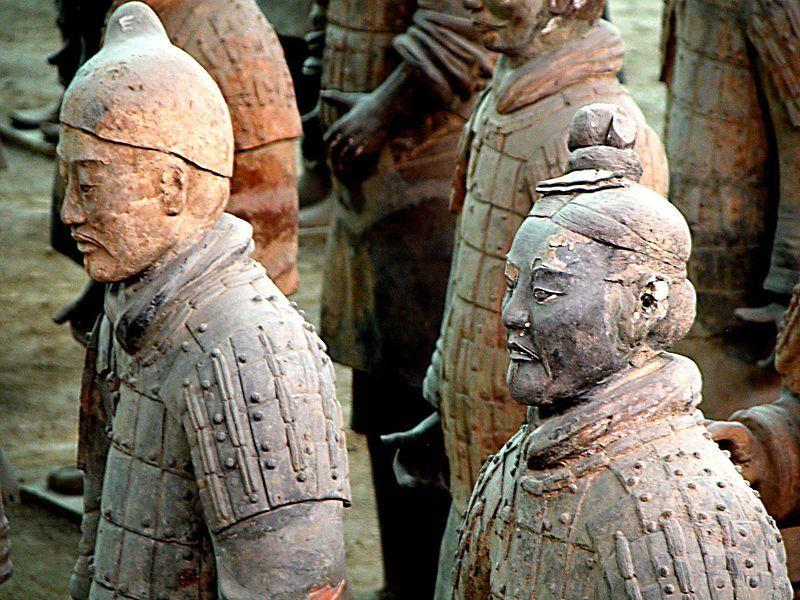 La cara de cada soldado que forma parte del ejercito de terracota es única.