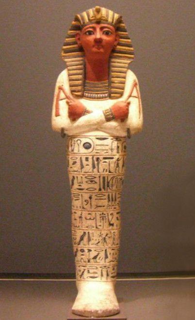 Ushebti de Ramses IV en el museo del Louvre.