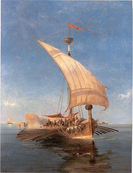 Pintura del Argo  realizada por Konstatinos Volanakis.
