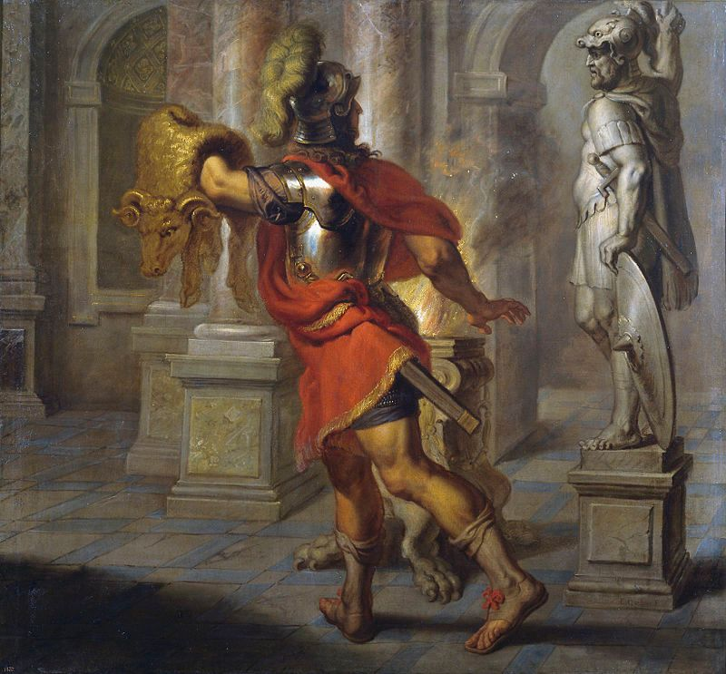 Jasón y el vellocino de oro pintura de Erasmus Quellinus.