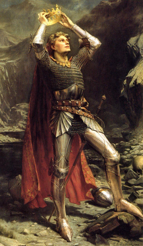 El rey arturo en una pintura de Charles Ernest Butler