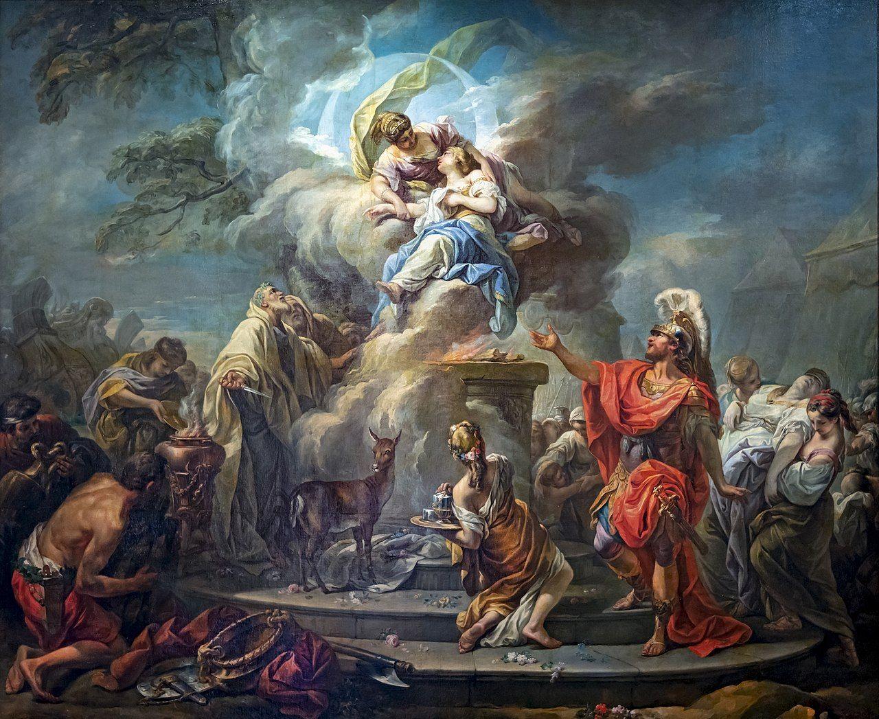 El sacrificio de Ifigenia de Gabriel-François Doyen.