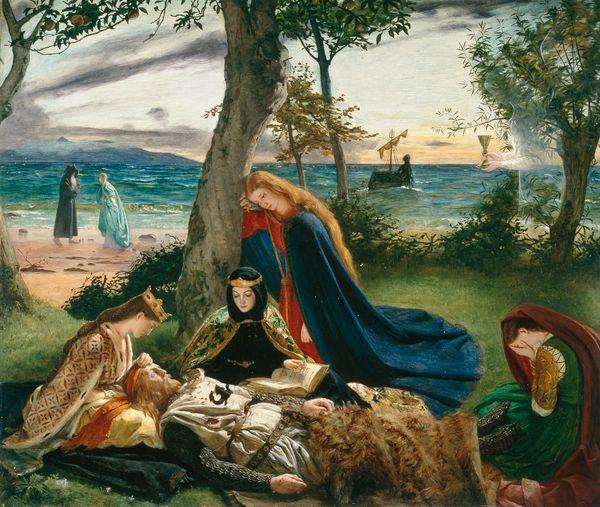 La muerte del rey Arturo de James Archer.