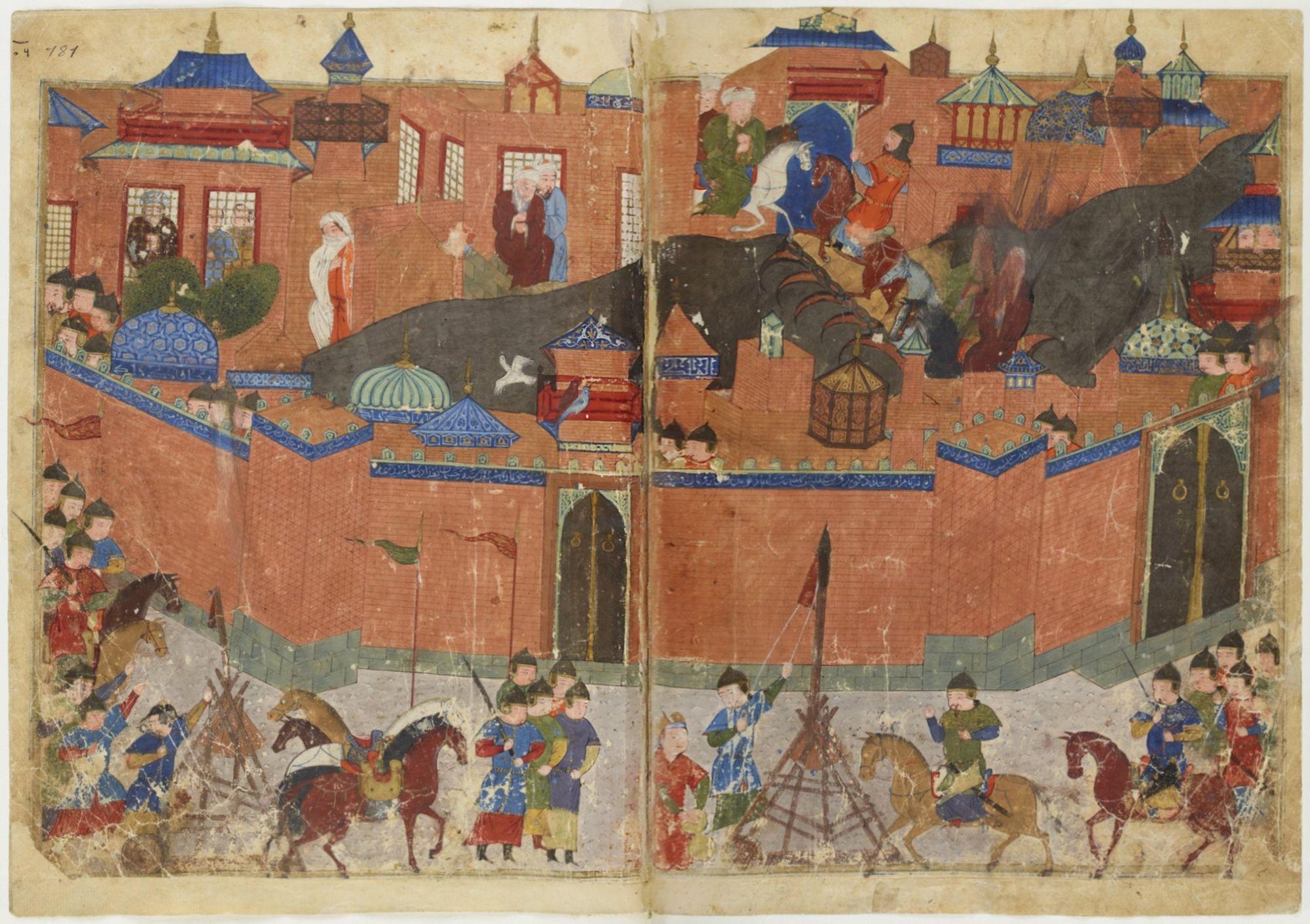 El asedio de Bagdad por parte de Hulagu Khan.
