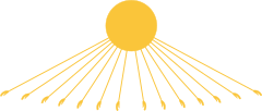 Representación de Aten, el disco solar, a diferencia de otras deidades del antiguo Egipto, Aten no fue representado como un ser con apariencia humana.