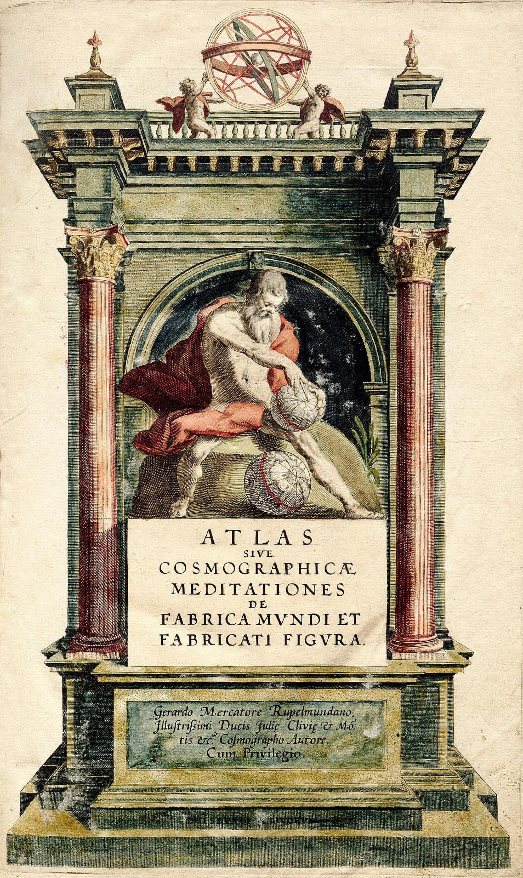 Frontispicio del Atlas de Mercator.