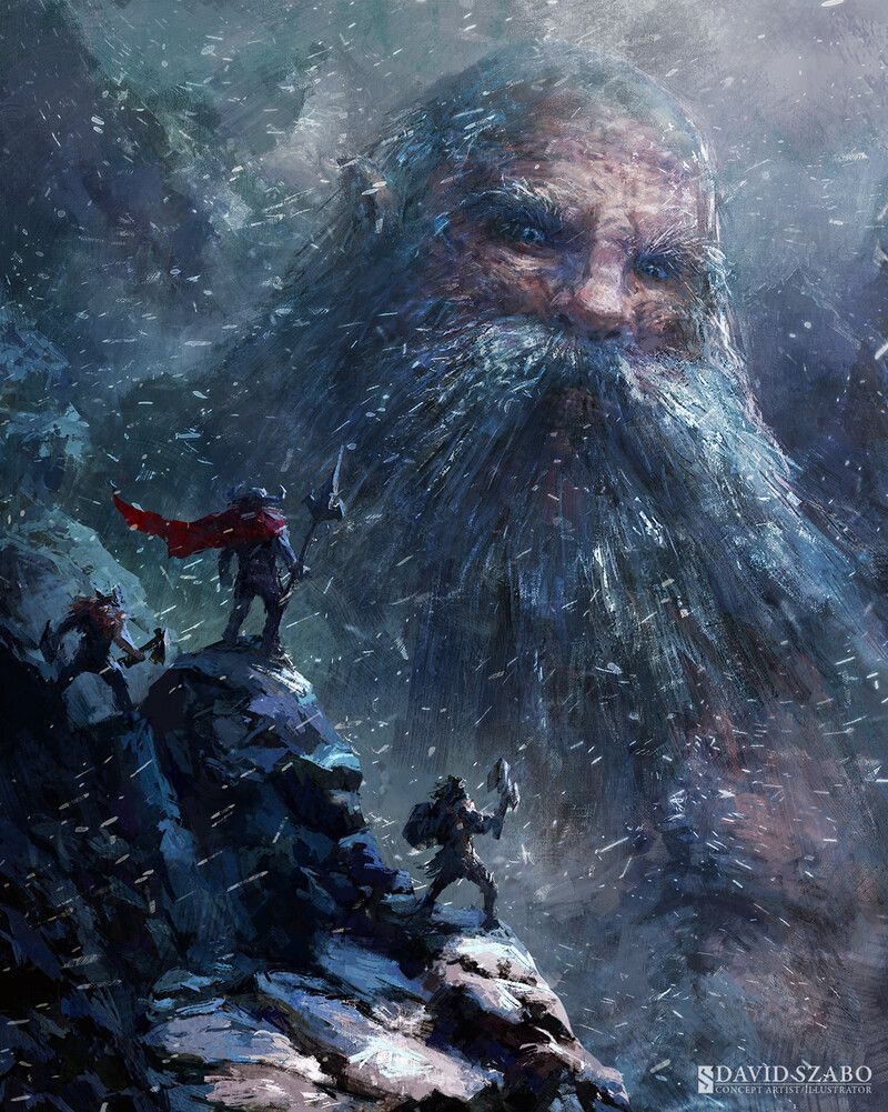Ymir el primer gigante de la mitología nórdica imagen de David Szabo (https://www.artstation.com/davidszaboart)