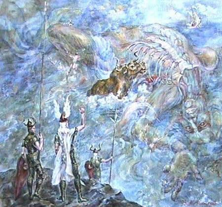 Del cuerpo de Ymir los dioses crearon el mundo y su geografía.
