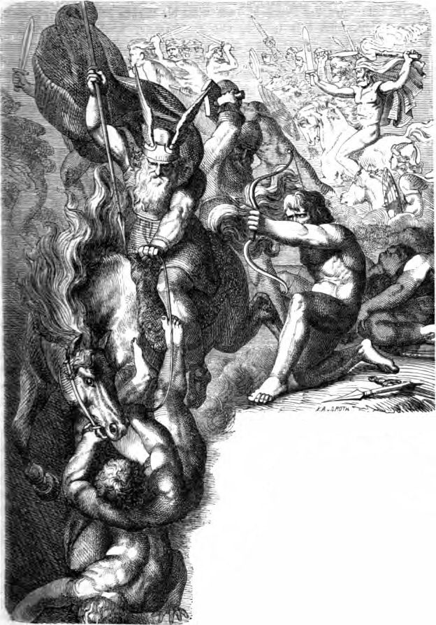 Los Aesir contras los Vanir de  Karl Ehrenberg. 1882.