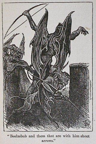Representación de Baalzebub segun la visión cristiana, es decir como un demonio.