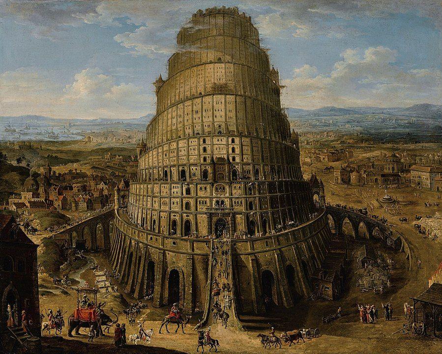 La Torre de Babel segun una pintura de la escuela flamenca del siglo XVII.