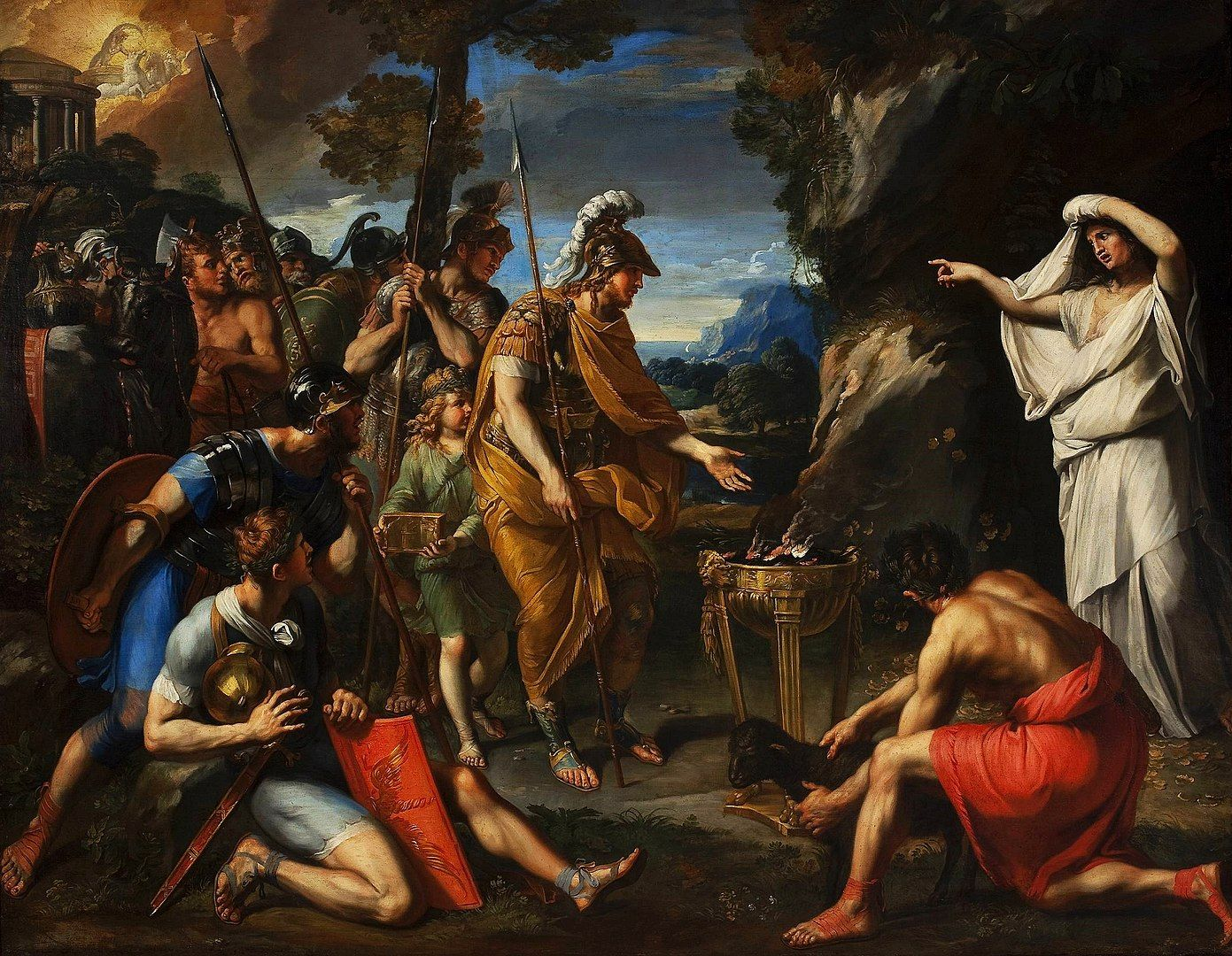 Eneas y la Síbila Cumana. Pintura de François Perrier.