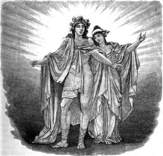 Balder y Nanna, representados en el libro Nordisch-germanische Götter und Helden de 1882.
