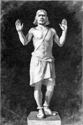 Balder representado en los Baldrs draumar (Sueños de Balder) en una edicion sueca de la Edda Poética.
