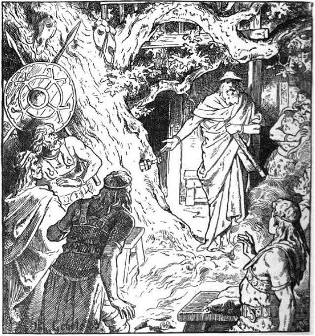 La espada enterrada por Odín, fue interpretada como una señal de su favor para con quien pudiera obtenerla.